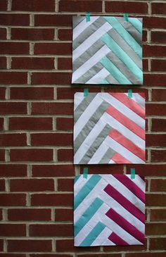 Using the Sew Mama Sew Modern Block of the Month, January'12, tutorial... Gorgeous! http://sewmamasew.com/blog2/2012/01/modern-block-of-the-month-bom-january-sew-along/  /////  do good stitches by katie @ swim, bike, quilt!, via Flickr
