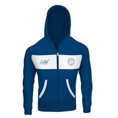 GymShark Luxe Zip Hoodie Blue/White