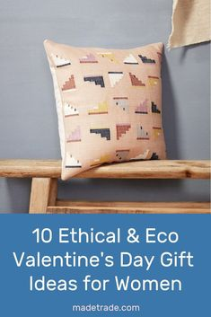 10 Ethical and Sustainable Valentine's Day Gift Ideas for Women available on Made Trade. Sustainable Gifts, Sustainable Living, Valentine Day Gifts, Valentines, Bright Homes, Kantha Quilt, Gifts For Women, Home Goods, Hand Weaving