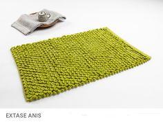 Maty bawełniane przeplatane do łazienki zielone