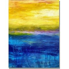 Trademark Fine Art Gold and Pink Sunset Canvas Art by Michelle Calkins, Size: 35 x 47, Multicolor