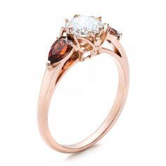 Custom Garnet and Diamond Engagement Ring | Engagement Rings | Joseph Jewelry