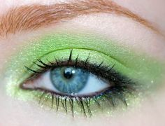 http://www.orglamix.com  How to Apply Absinthe Lime Green Eyeshadow for Eyes That Pop!     #lime #green #bright #eyeshadow #makeup #beauty #cosmetics #pop #color #absinthe