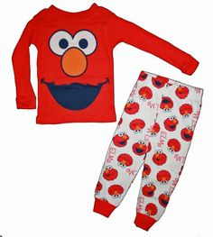 Sesame Street Elmo Boy's 2-Piece Cotton Sleepwear: Amazon.com: Clothing