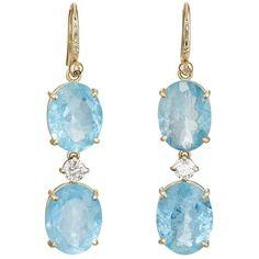 Irene Neuwirth Women's Mixed-Gemstone Triple-Drop Earrings ($8,450) ❤ liked on Polyvore featuring jewelry, earrings, no color, gemstone earrings, 18 karat gold earrings, gemstone jewelry, handcrafted jewellery and gem earrings