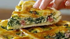 Savoury tart with silverbeet (pizza rustica)