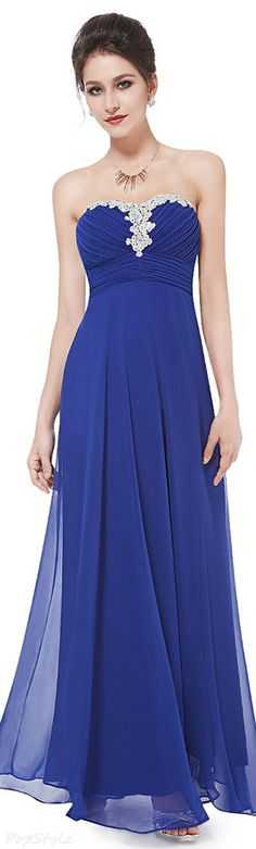 Find More Prom Dresses Information about Appealing stones strapless chiffon sapphire blue prom dress evening gown summer ladies formal night dresses robes de cristal,High Quality gown kids,China gown city dresses Suppliers, Cheap dress patterns evening gowns from youthbridal on Aliexpress.com