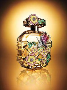 Beautifully decorated perfume bottle