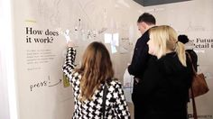 Touching this magic wall brings you playful digital animations