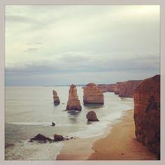 a couple of rocks in the sea ha
