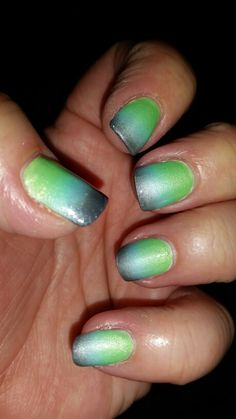 Green, light blue and grey gradient