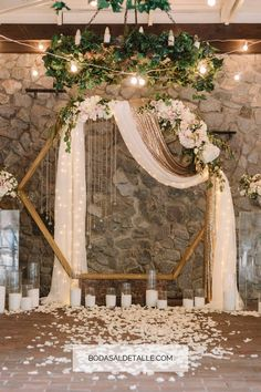 Wedding Arbors, Wedding Ceremony Arch, Wedding Scene, Dream Wedding, Wedding Flowers, Wedding Backdrops, Wedding Church, Table Wedding, Party Wedding