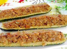 Courgettes Farcies au Thon WW – Plat et Recette Zucchini stuffed with WW tuna, recipe for a tasty light dish