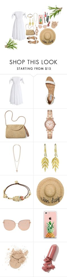 """""""SUN DAY"""" by maria99frances on Polyvore featuring Chicwish, Mar y Sol, Michael Kors, Givenchy, Gas Bijoux, Eugenia Kim, Topshop, The Casery, LAQA & Co. and Clinique"""