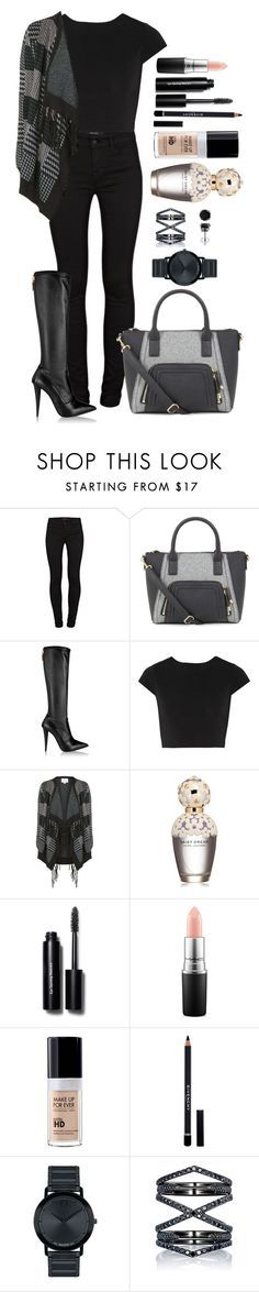 """Untitled #1332"" by fabianarveloc on Polyvore featuring J Brand, Giuseppe Zanotti, Alice + Olivia, Topshop, Marc Jacobs, Bobbi Brown Cosmetics, MAC Cosmetics, MAKE UP FOR EVER, Givenchy and Movado"