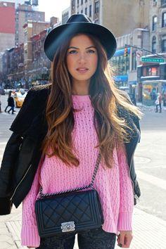 Day 2 in New York: Power Pink   Negin Mirsalehi