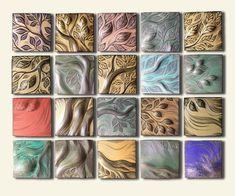 Clay Tiles Art Project | Ceramic wall art and backsplash Tile by Natalie Blake Studios ...
