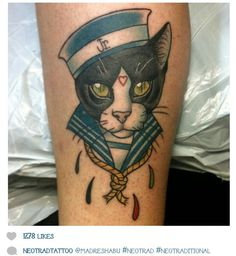 traditional tattoo cat - Szukaj w Google