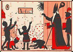 Sinterklaasillustratie uit boek in KB-bezit.