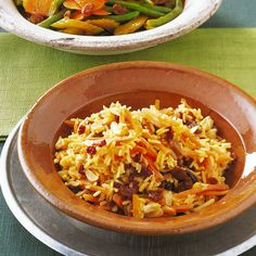 Persian carrot rice- The small red berries of the barberry have a slightly sour taste. You can get them dried in Iranian or Turkish shops. Rice Recipes, Asian Recipes, Recipies, Sour Taste, Cooking Together, Food Staples, Red Berries, Rice, Recipes