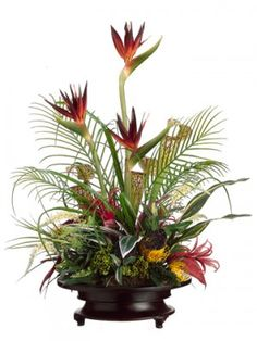 442 best ikebana and high style images on pinterest in 2018 floral tropical silk arrangment with anthurium and protea arwf3731 tropical floral arrangements tropical flowers silk mightylinksfo
