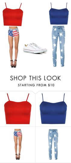 """""""Forth of July❤️"""" by rileighstidham on Polyvore featuring WearAll, STELLA McCARTNEY and Converse"""