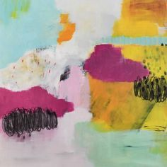 """Saatchi Art Artist Christiane Lohrig; Painting, """"WINTERBUNT"""" - Featured on One Room Six Ways: Watch How Adding One Artwork Can Reinvent a Room - http://canvas.saatchiart.com/decor/inspiration/one-room-six-ways-watch-how-adding-one-artwork-can-reinvent-a-room"""