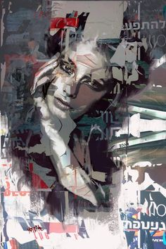giclee print embellished on high quality canvas / original drawing illustration, painting. Aerosol Paint, Original Art, Original Paintings, Canvas Online, Collage, Zen Art, Black And White Portraits, Artist Painting, Painting Canvas