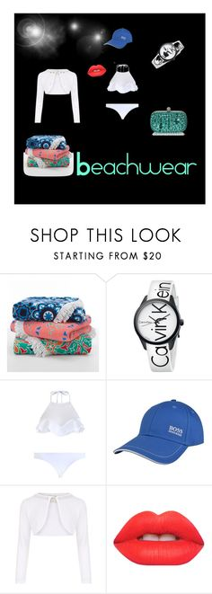 """""""My Beachwear"""" by narae25 ❤ liked on Polyvore featuring Calvin Klein, Zimmermann, BOSS Green, Monsoon and Lime Crime"""