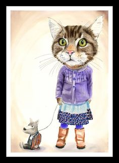 Miss Pickles print by jimbobart - Limited Edition of 150, on archival quality Bockingford watercolour paper, $49.00 !!