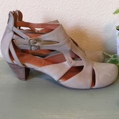 Sachelle Double Buckle Stacked Heel Shoes. These adorable Sachelle double buckle stacked heel shoes are made for comfort and style. The insole is leather and cushy. This is a pretty and fun shoe. Lots of compliments with these. Seychelles Shoes Heels
