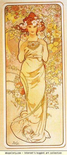 Alphonse Mucha. Rose. From The Flowers Series. Olga's Gallery.