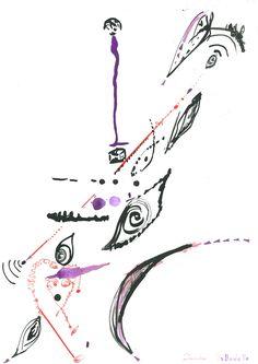 DARTGR1115063 #Heart #Eye #Black #Red #Purple  #love #Minimal #DanielaDallavalle #Grafismi #loveistheanswer #ink #sketches #art