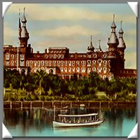 1891 Tampa Bay Hotel, Tampa, Florida. Now home of the Henry Plant Museum and the University of Tampa