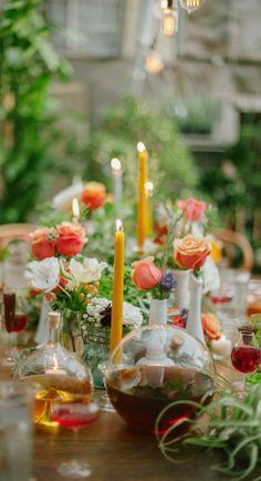 garden tablescape...