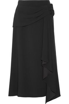 Black crepe Concealed hook and zip fastening at side 72% acetate, 28% viscose Dry clean Made in Italy