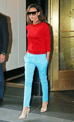 Victoria Beckham sweater and trousers