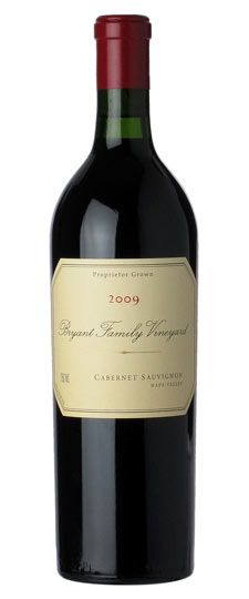 Bryant Family 2009 Cabernet Sauvignon   The 2009 Cabernet Sauvignon bursts from the glass with rich, dark red fruit, smoke, licorice and incense.