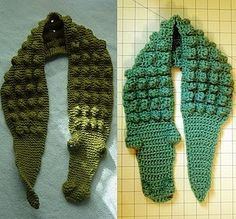 Cute for a little boy, its tough to find patterns that aren't super girly. Kids Gator Scarf - Free crochet tutorial/pattern by nanette