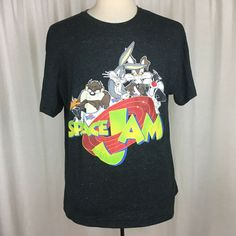 1d9860aef748 Space Jam Mens XL 46 48 T shirt Looney Tunes Bugs Bunny Short Sleeve   fashion