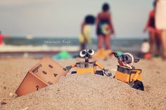 WallE Danbo Beach Photo Art Print Sand Summer by CharlenePrecious, $28.00