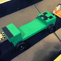 Minecraft Creeper Pinewood Derby Car