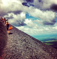 hiking CERRO NEGRO, NICARAGUA (to then ride a sand board down!)