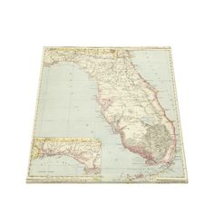 Vintage Map of Florida (1883) 2 Canvas Print