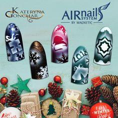 Airnails Christmas Designs Christmas Nail Art Designs, Christmas Nails, Christmas Ornaments, Magic Day, Nail Art Designs Videos, Magnetic Nails, Winter Magic, Winter Nails, Magnets