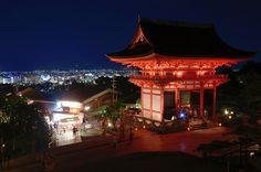 Kiyomizu-Dera with lightened up in summer night (Kyoto) / 夏の夜の清水寺(京都)