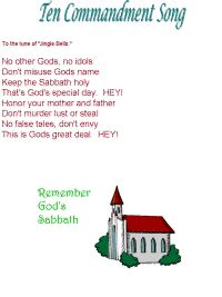 Ten Commandments song to the tune of Jingle Bells