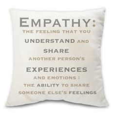Empathy humanitarian decorative throw pillow  accent by BuyAPillow, $79.00