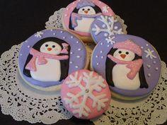 Girlie Penguin Cookies by SugarNirvana on Etsy, $30.00