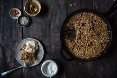Oatmeal raisin cookie baked oatmeal
